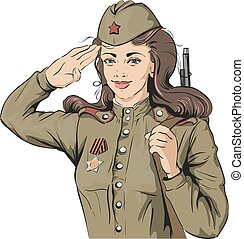 Russian Girl soldier Female soldier