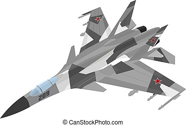 Russian jet fighter aircraft painted