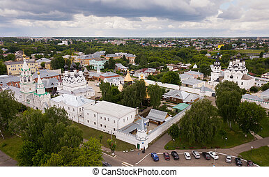 Russian landmark Trinity and Annunciation Monasteries in Murom