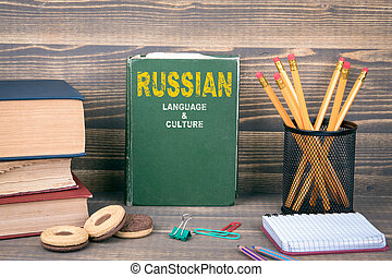 Russian language and culture concept