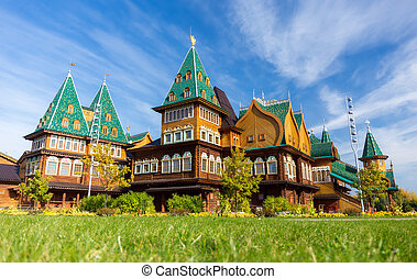 Russian mansion - Recreated wooden palace of Tsar Alexei I...