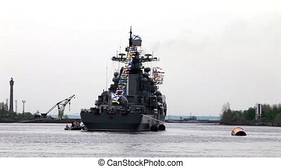 Battleship - Russian military  Battleship  loop.  Tripod.
