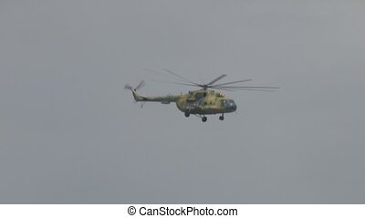 helicopter - Russian military helicopter MI-8