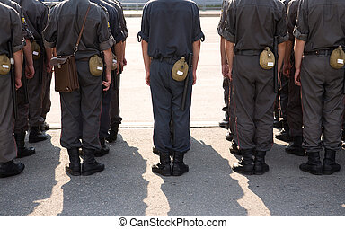 Russian military service - editorial photo , focus point on...
