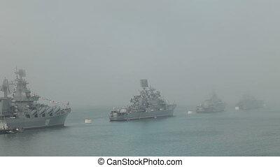 Russian naval parade in Sevastopol