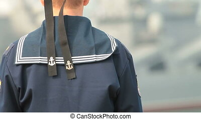 Russian navy sailor - Russian sailor, in the background...