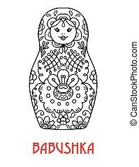 Russian nesting doll icon. - Russian traditional folk...