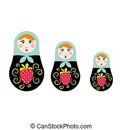 Russian nesting doll vector illustration.