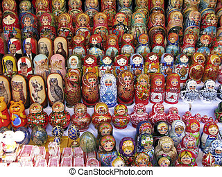 Russian Nesting Dolls - Retail display of old and modern ...