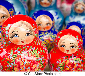 Russian nesting dolls - Russian Matrioshkas from a souvenir ...