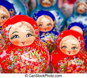 Russian nesting dolls - Russian Matrioshkas from a souvenir ...