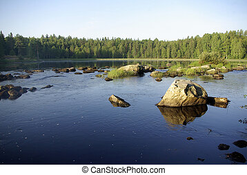 The Republic of Karelia. Summer on the river