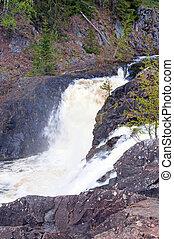 Waterfall Kivach in Karelia, Russia