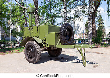 Russian or soviet army military mobile field kitchen