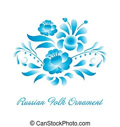 Russian ornaments art gzhel style.