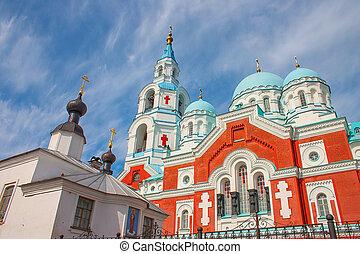 Russian Orthodox christian church on Valaam Island, Ladoga...
