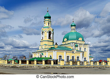 Russian orthodox church in honour of sacred Nikolay Chudotvortsa, located in village Nikolo - Pavlovsk, Sverdlovsk area  in Russia