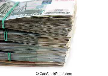 Russian paper money - casually throw in a bunch of Russian...