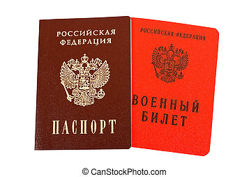 Russian passport and Military ID