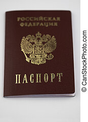 Russian passport in macro