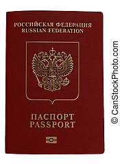 Russian passport. Isolated on white background