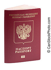 Russian passport with microchip