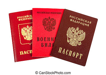 Russian passports (national and international type) and Military ID