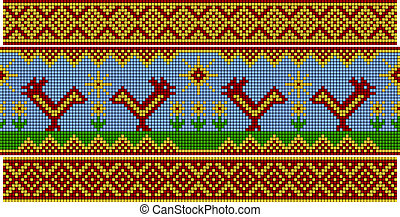 Russian pattern. Set