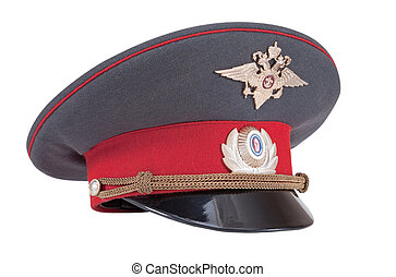 Russian Police cap isolated on white background