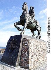 Elysaveta on the horse
