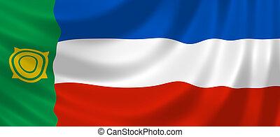 Russian Republic of Khakassia flag - Flag of Russian federal...