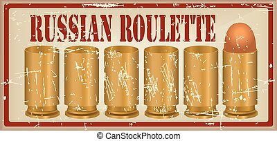 Russian roulette one fitted out the cartridge - Russian...