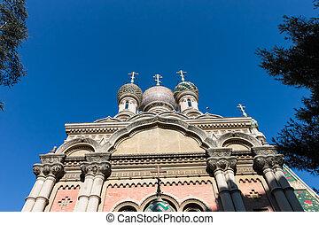Russian rthodox church in Sanremo on the Italian Riveria