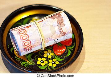 Russian Ruble, khokhloma