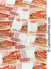 Russian rubles banknotes as background