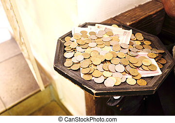 Russian rubles coins