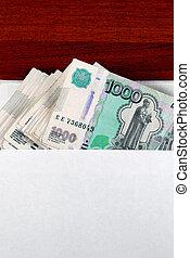 Russian Rubles in Envelope