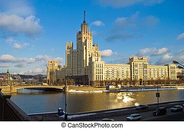Russian skyscraper - Kotelnicheskaya Embankment Building is...