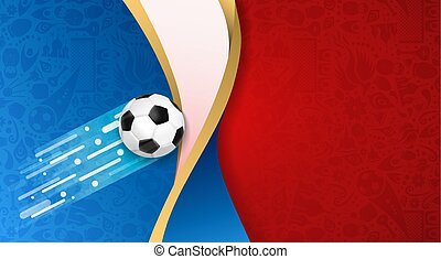 Russian soccer ball flag color background