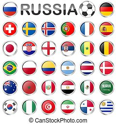 Russian soccer game national teams