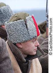 Russian soldier 1918 - reenactment Civil War