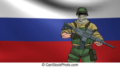 Russian Soldier Background Animation