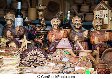 Russian souvenirs at market