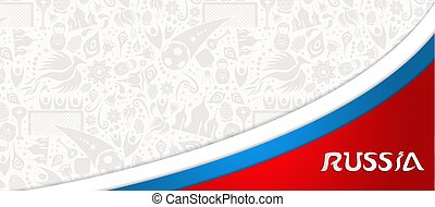 Russian sport event web banner background