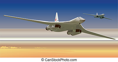 strategic bombers - russian strategic bombers TU-160. ...