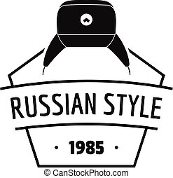 Russian style logo, simple black style - Russian style logo....