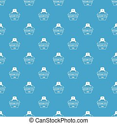 Russian style pattern vector seamless blue repeat for any...
