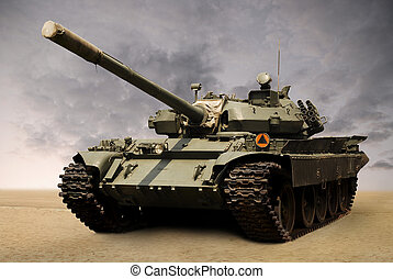 russian tank - shot of a russian military tank from...