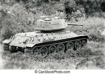 Russian tank T-34 from World War II, Slovakia - Russian tank...
