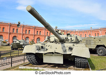 Russian tank T-80 in Military Artillery Museum.